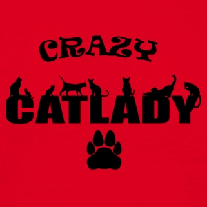 CRAZY Catlady black - Men's T-Shirt