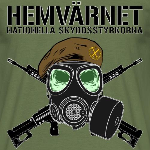 Hemvärnet - Skyddsmask 90 + Ak 4C - T-shirt herr