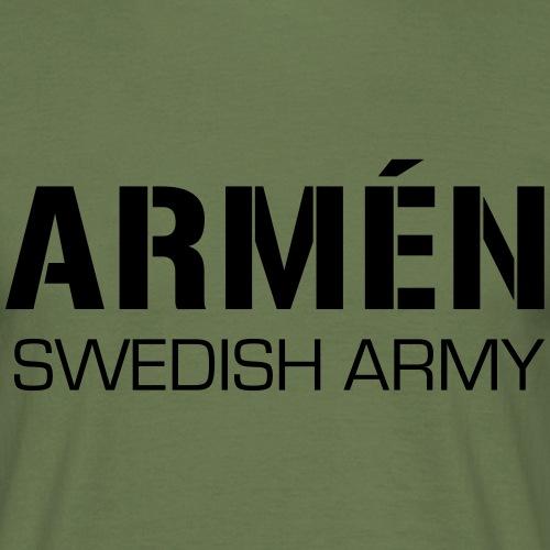 ARMÉN -Swedish Army - T-shirt herr