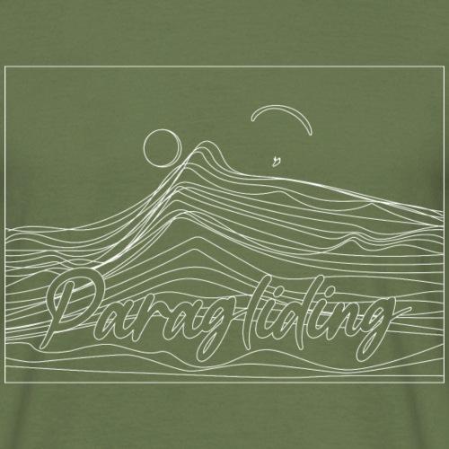 Paragliding Paralining Gleitschirm Sonnenuntergang - Männer T-Shirt