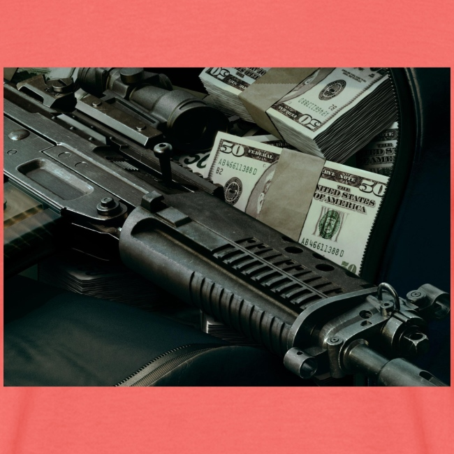 money and gun