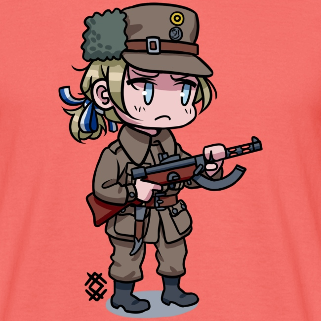 Chibi Finnish civil guard