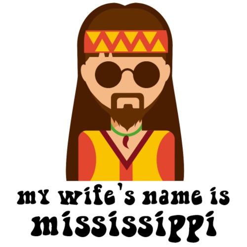 hippie moglie arte cartoon cartoon divertente - Maglietta da uomo