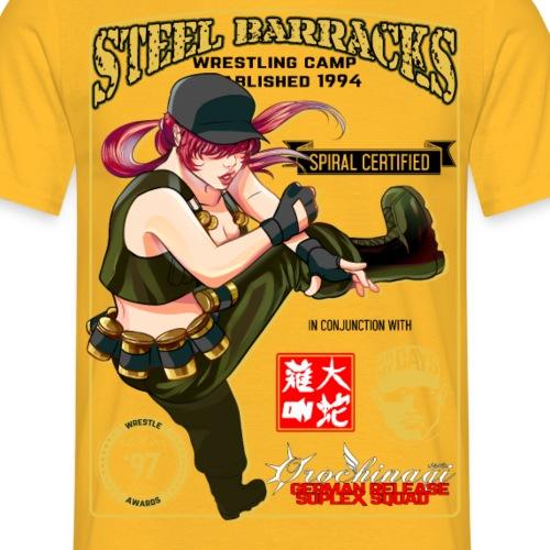 wrestling anime - Men's T-Shirt