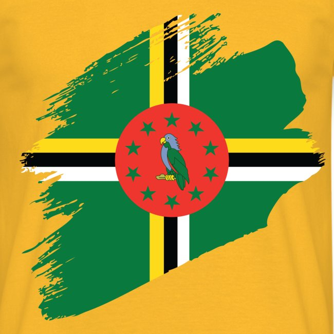 Brushstroke Flag - Dominica