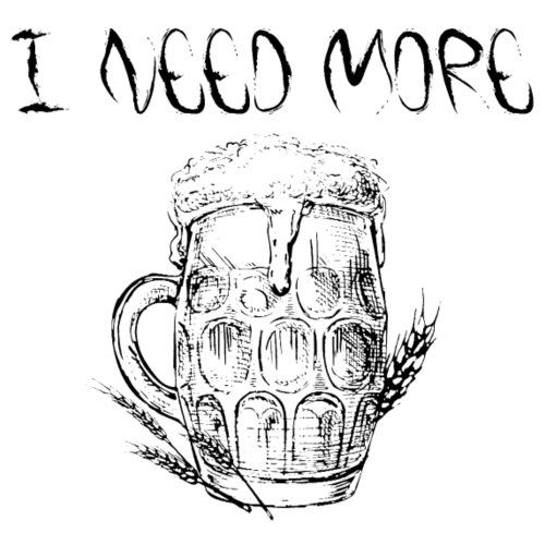 ho bisogno di più birra tedesca divertente arte scherzo fumetti - Maglietta da uomo