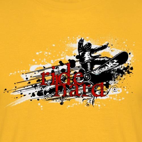 ride hard snow - Männer T-Shirt