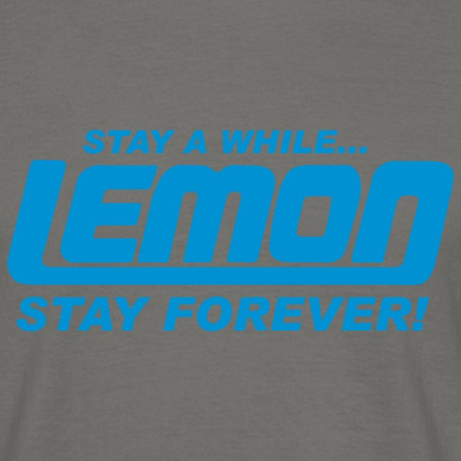 lemon logo stay a while