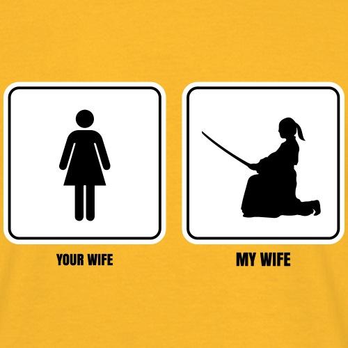 my wife aikido fondos claros - Camiseta hombre