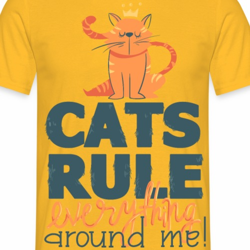 Cat´s Rule - Männer T-Shirt