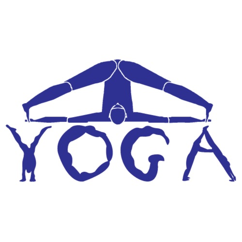 yoga yogi blu namaste pace amore hippie sport art - Maglietta da uomo