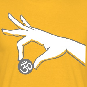 003 - om hand two color - Männer T-Shirt