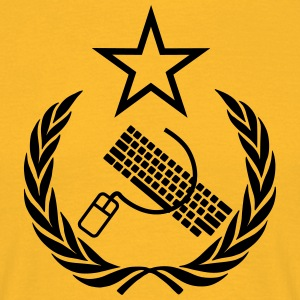 The keyboard and mouse Communist - Geek Flag - Men's T-Shirt