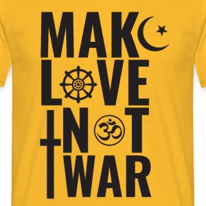 Make love, not war - Koszulka męska