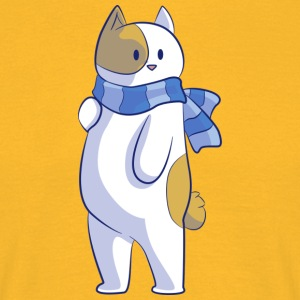 Sweet cat with scarf - Men's T-Shirt