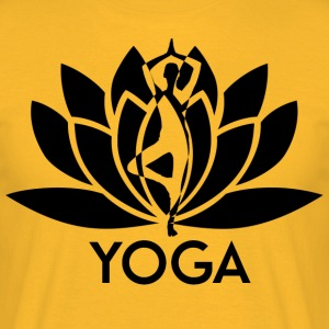 ++ ++ Yoga Flower - Mannen T-shirt