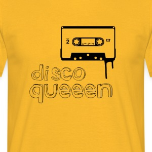 disco queen Music cassette 80s Retro Girl dancing - Men's T-Shirt