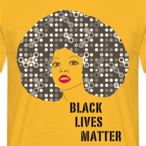 black woman afro disco 70s face party dance fun r - Men's T-Shirt