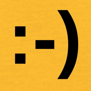 Happy_Smiley - T-skjorte for menn