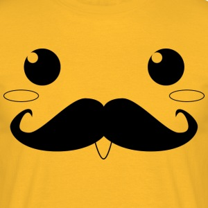 moustached - Men's T-Shirt