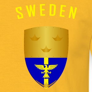 ZWEDEN KRONEN SHIELD - Mannen T-shirt