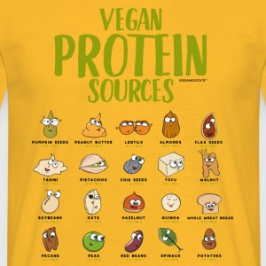 Vegan Protein Sources - Männer T-Shirt