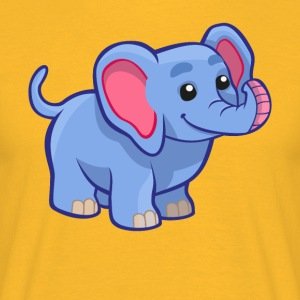 Søde elefant - T-shirt-design - Herre-T-shirt