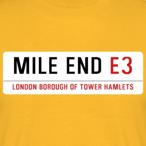 Mile End Street Sign - Men's T-Shirt