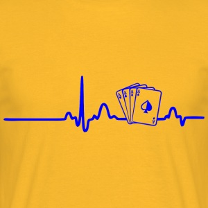 ECG HEART LINE POKER PLAYER blue - Men's T-Shirt