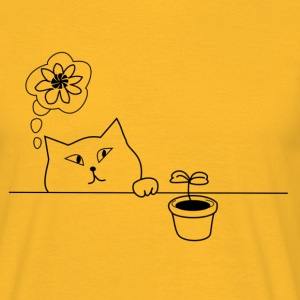 Cat & plant - Men's T-Shirt
