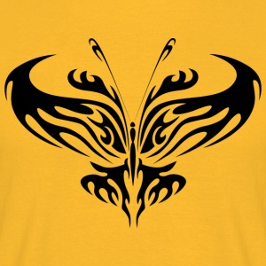 Tribal Tattoo Butterfly - T-skjorte for menn