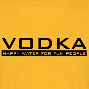 Vodka - happy water - Mannen T-shirt