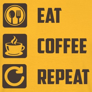 Eat, Coffee, Repeat - Men's T-Shirt