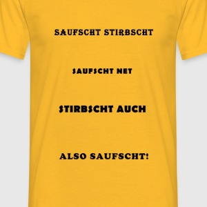 SaufDefinition - T-shirt herr