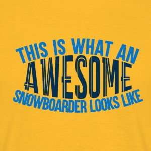 Awesome Boarder - Boarder Macht - Mannen T-shirt