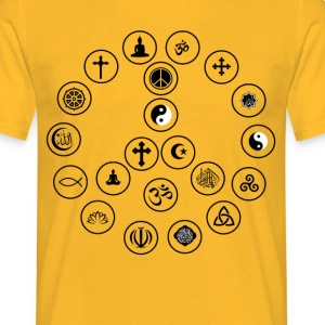 Fred og religion - Herre-T-shirt