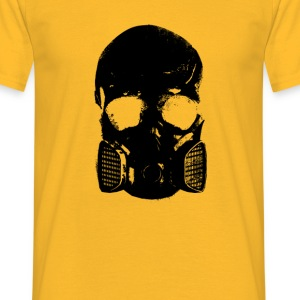 anti gas schedel - Mannen T-shirt