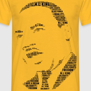 Martin Luther King stencil ord moln - T-shirt herr