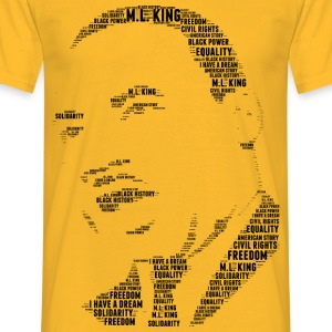 Martin Luther King stencil word cloud - Mannen T-shirt