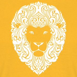 lion with ornament hairs 2 - Men's T-Shirt
