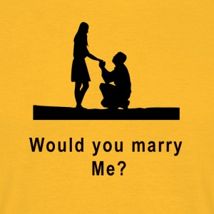 marriage proposal - Men's T-Shirt