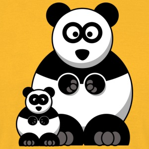 Mama Panda and Baby Panda - Men's T-Shirt