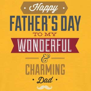 happy father s day to wonderfull dad - Men's T-Shirt
