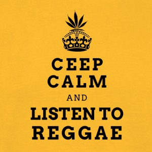 CEEP CALM REGGAE (DARK LABEL) - Männer T-Shirt