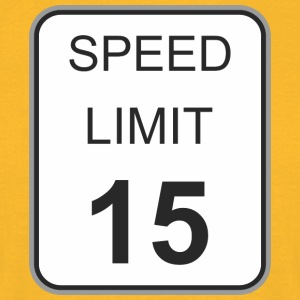Road sign speed limit 15 - Men's T-Shirt