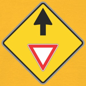 Road Sign Up omlaag - Mannen T-shirt