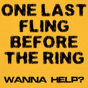 Bachelor Party One Last Fling vor dem Ring - Männer T-Shirt