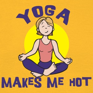Yoga Makes Me Hot - Maglietta da uomo