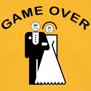 Game Over Just Married - T-skjorte for menn