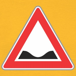 Road Sign down red triangle - Men's T-Shirt